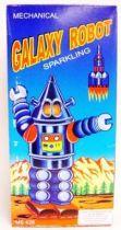Robot - Mechanical Walking Tin Robot - Galaxy Robot (sparkling)