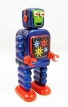 Robot - Robot Marcheur Mécanique en Tôle - Gearing Robot (St.John Tin Toy) 02