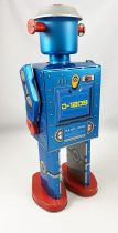Robot - Mechanical Walking Tin Robot - Giant Atomic Robot Man Blue (St.John Tin Toy)