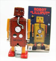 Robot - Mechanical Walking Tin Robot - Mini Robot Lilliput (Ha Ha Toy)