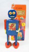 Robot - Robot Marcheur Mécanique en Tôle - Neutron Robot II (St.John Tin Toy) 01