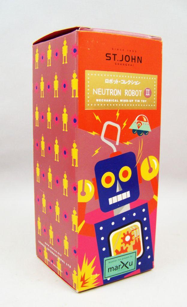 Robot - Robot Marcheur Mécanique en Tôle - Neutron Robot II (St.John Tin Toy) 04