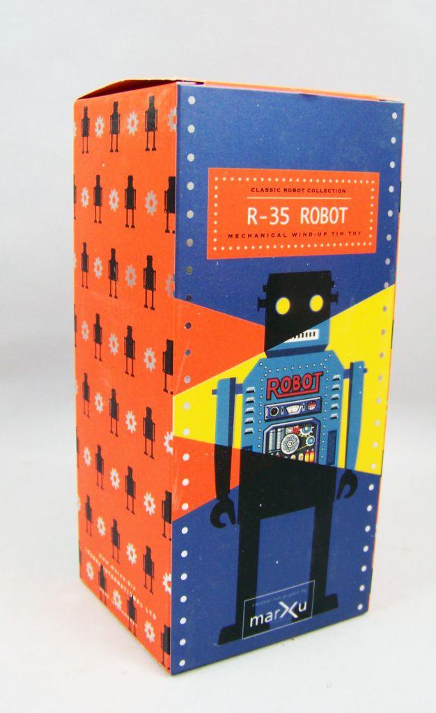 Robot - Robot Marcheur Mécanique en Tôle - R-35 Robot (St.John Tin Toy) 04