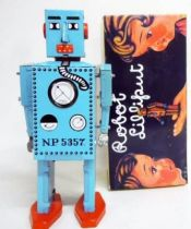 Robot - Mechanical Walking Tin Robot - Robot Lilliput (Q.S.H.) blue