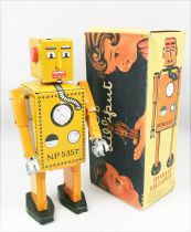 Robot - Mechanical Walking Tin Robot - Robot Lilliput (Q.S.H.) orange