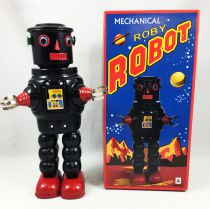 Robot - Mechanical Walking Tin Robot - Roby Robot (black)  Ha Ha Toy MS640N