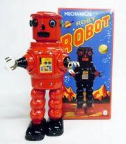 Robot - Mechanical Walking Tin Robot - Roby Robot (red)