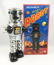 Robot - Mechanical Walking Tin Robot - Roby Robot (silver)  Ha Ha Toy MS640