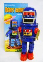 Robot - Mechanical Walking Tin Robot - Roby Robot (sparkling)