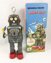 "Robot - Mechanical Walking Tin Robot - Space Man \""Antena\"" (Ha Ha Toy) MS438"