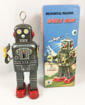 "Robot - Mechanical Walking Tin Robot - Space Man ""Antena\"" (Ha Ha Toy) MS438"