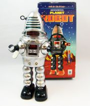 Robot - Mechanical Walking Tin Robot -Planet Robot (sparkling) Ha Ha Toy