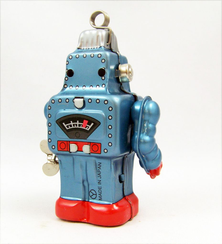 Robot - Mechanical Walking Tin Robot Card Holder (sparkling) Yonezawa
