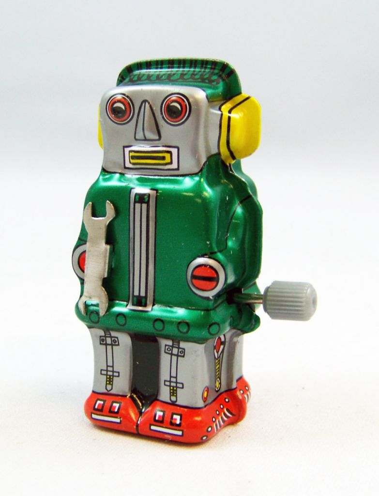 Robot - Mini Wind-Up en Tôle - Zoomer Robot 02