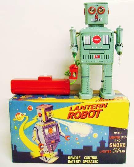 Robot - Remote Control Battery Operated Robot - Lantern Robot (Ha Ha Toys)