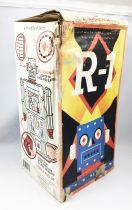 Robot - Robot Marcheur à Pile en Tôle - Robot One R-1 (Rocket USA) Bleu