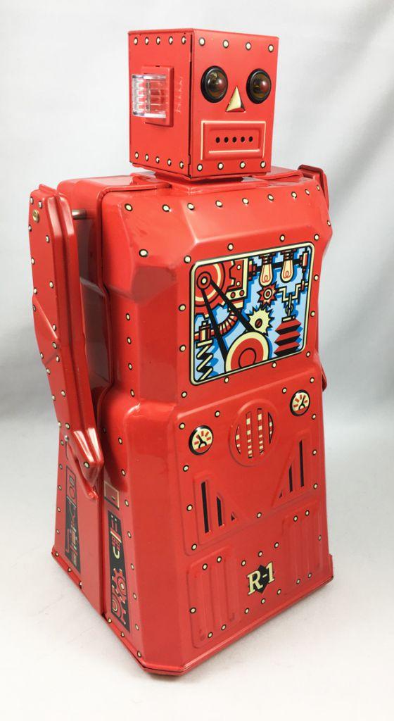 Robot - Robot Marcheur à Pile en Tôle - Robot One R-1 (Rocket USA) Rouge