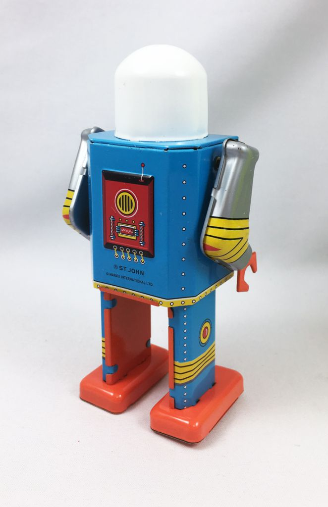 Robot - Robot Marcheur Mécanique en Tôle - Astro Captain (St.John Tin Toy)