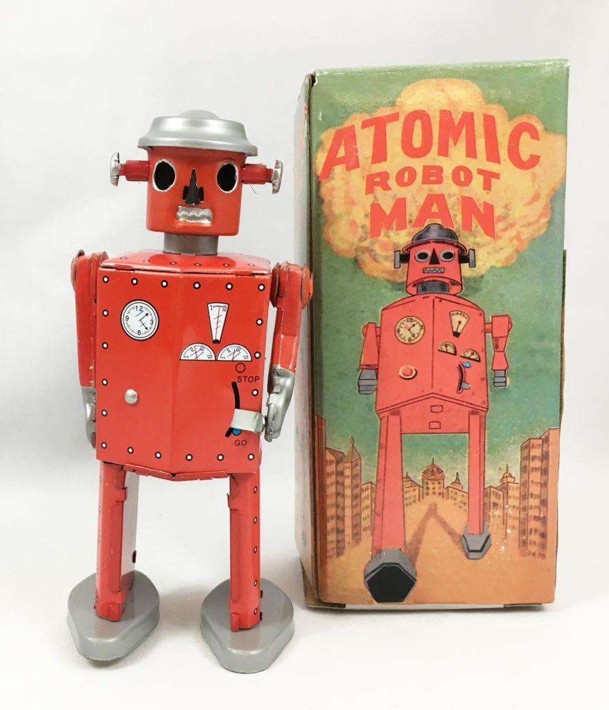 Robot - Robot Marcheur Mécanique en Tôle - Atomic Robot Man (St.John Tin Toy)