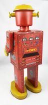 Robot - Robot Marcheur Mécanique en Tôle - Atomic Robot Man Géant Rouge (St.John Tin Toy)