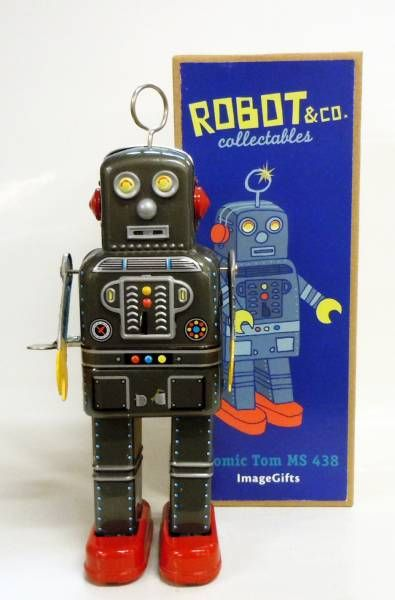 Robot - Robot Marcheur Mécanique en Tôle - Atomic Tom MS 438 (ImageGifts)
