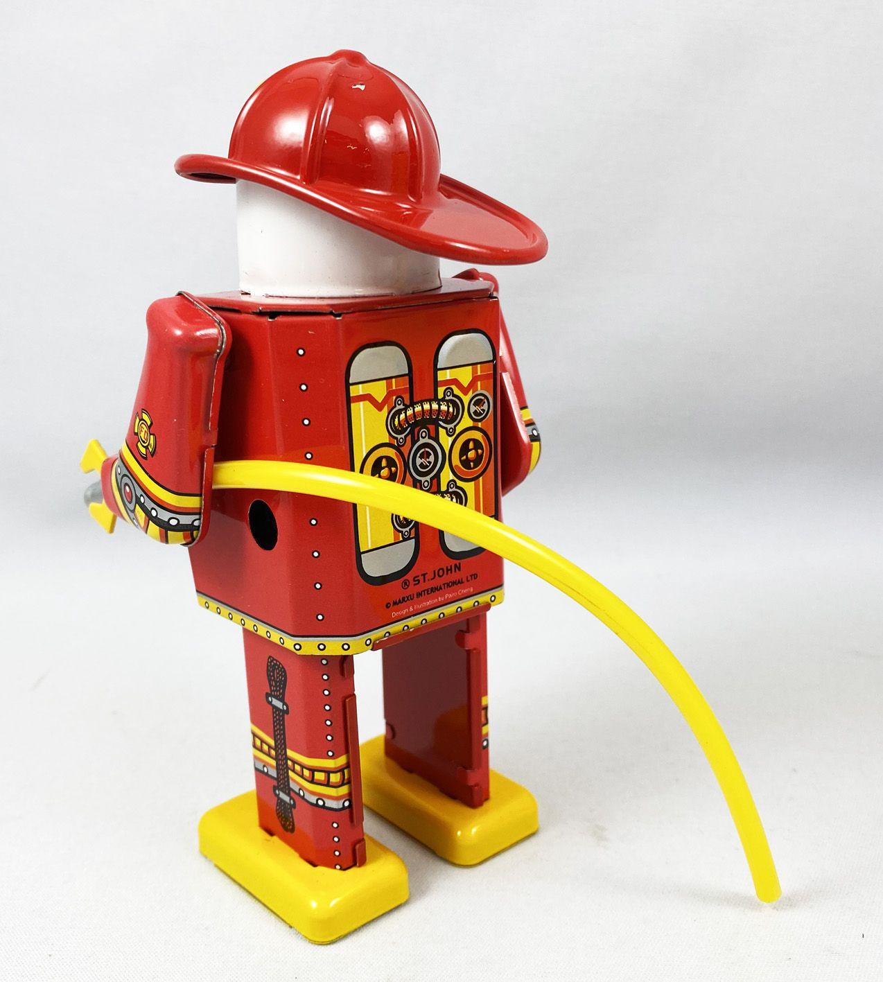 Robot - Robot Marcheur Mécanique en Tôle - Fire Captain (St.John Tin Toy)