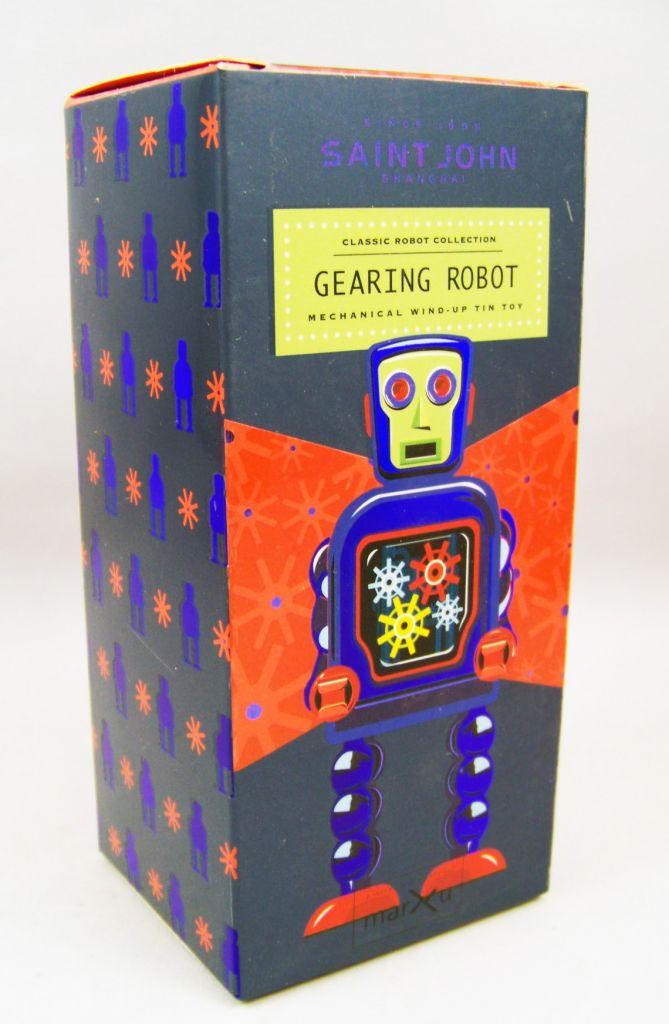 Robot - Robot Marcheur Mécanique en Tôle - Gearing Robot (St.John Tin Toy) 04