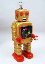 Robot - Robot Marcheur Mécanique en Tôle - High Wheel Robot (St.John Tin Toy) 02