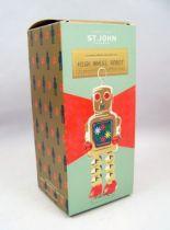 Robot - Robot Marcheur Mécanique en Tôle - High Wheel Robot (St.John Tin Toy) 04