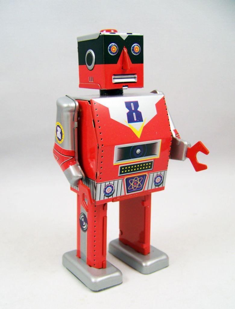 Robot - Robot Marcheur Mécanique en Tôle - Laser Robot (St.John Tin Toy) 02