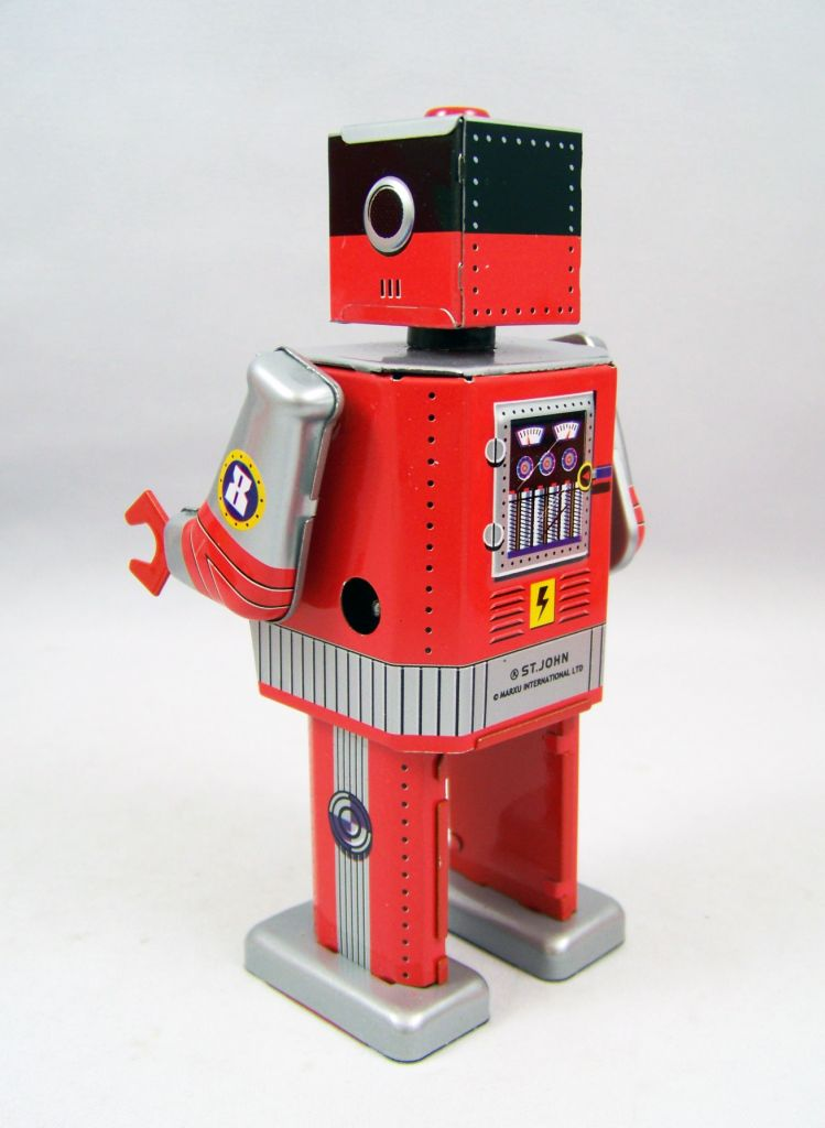 Robot - Robot Marcheur Mécanique en Tôle - Laser Robot (St.John Tin Toy) 03
