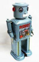 Robot - Robot Marcheur Mécanique en Tôle - Mechanical Robot (Ha Ha Toy)