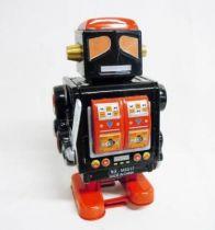 Robot - Robot Marcheur Mécanique en Tôle - Mechanical Robot Noir (N.R.)