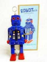Robot - Robot Marcheur Mécanique en Tôle - Mister Blue MS 403 (ImageGifts)