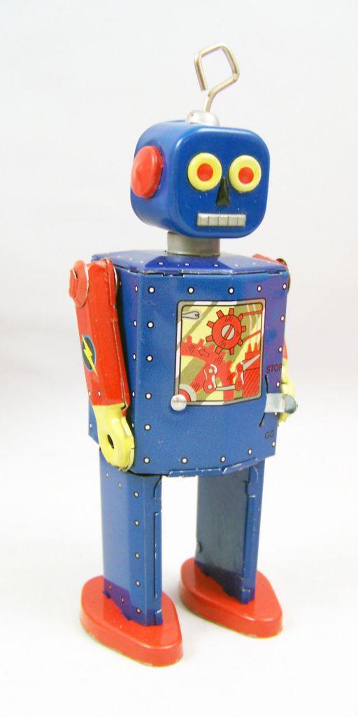 Robot - Robot Marcheur Mécanique en Tôle - Neutron Robot II (St.John Tin Toy) 02