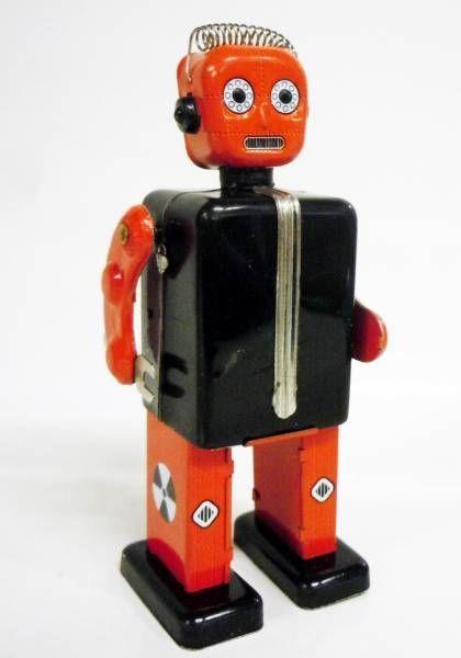 Robot - Robot Marcheur Mécanique en Tôle - Proton Man (St.John Tin Toy)