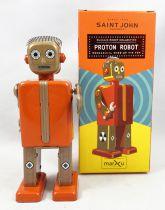 Robot - Robot Marcheur Mécanique en Tôle - Proton Robot (St.John Tin Toy)