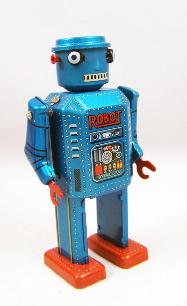 Robot - Robot Marcheur Mécanique en Tôle - R-35 Robot (St.John Tin Toy) 02