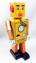 Robot - Robot Marcheur Mécanique en Tôle - Robot Lilliput (Q.S.H.)
