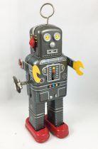 """Robot - Robot Marcheur Mécanique en Tôle - Space Man \""""Antenne\"""" (Ha Ha Toy) MS438"""