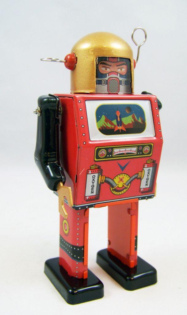 Robot - Robot Marcheur Mécanique en Tôle - TV Spaceman (St.John Tin Toy) 02