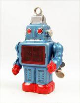 Robot - Robot Marcheur Mécanique en Tôle Porte-Cartes (étincelant) Yonezawa