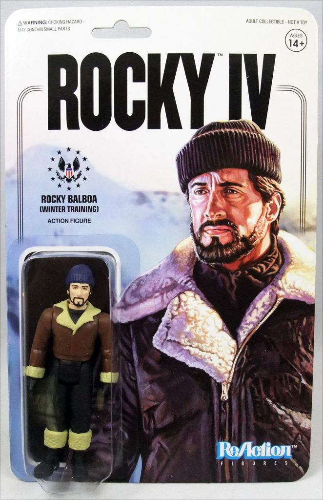 Rocky IV - Set de 5 action figures ReAction : Rocky, Drago, Apollo, Sico, Winter Rocky - Super7
