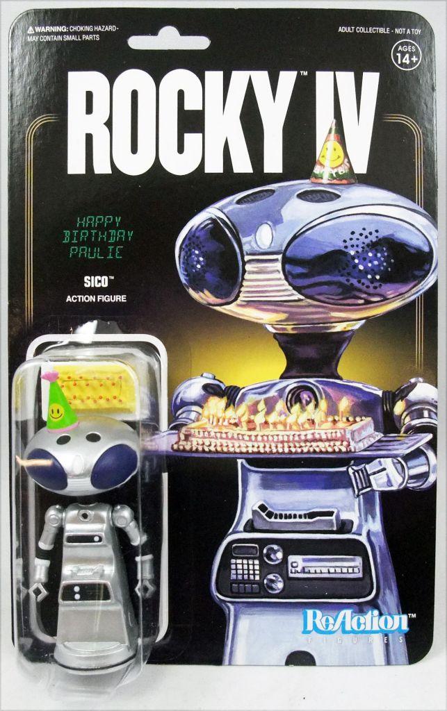 Rocky IV - Set of 5 ReAction figures : Rocky, Drago, Apollo, Sico, Winter Rocky - Super7
