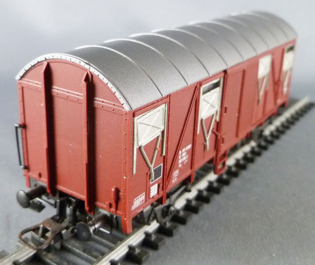 Roco 4375B Ho Sncf Covered Wagon 2 axles Gs 01 87 120 5 568-2 Boxed