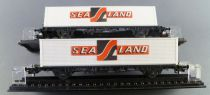 Röwa Ho Db 2 Flat Wagons with 40 Feet Sea-Land Container with box