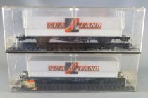 Röwa Ho Db 2 Wagons Plat Container Sea-Land 40 Pieds en Boite