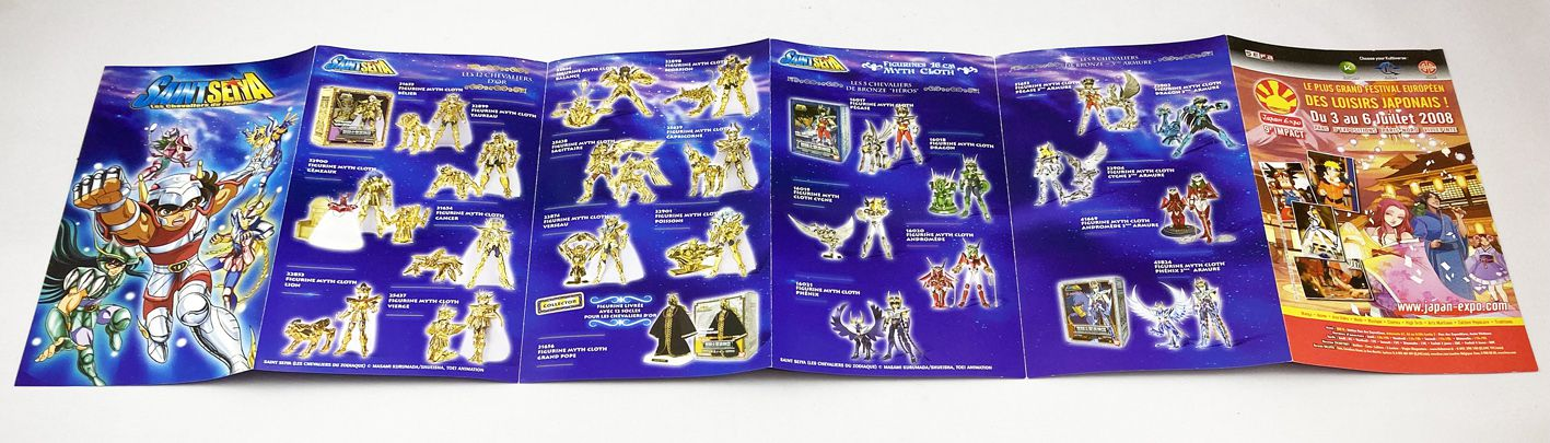 Saint Seiya (Les Chevaliers du Zodiaque) Myth Cloth Catalogue Dépliant Bandai France 2008