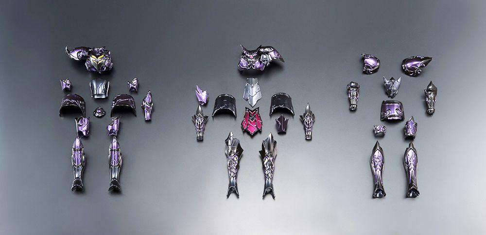 Saint Seiya Myth Cloth EX Appendix - Set de 3 Surplis Endommagés : Gemeaux, Verseau, Capricorne