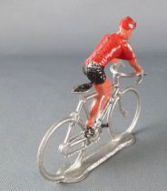 Salza - Cyclist (Metal) - Team Red Jersey Standing up Tour de France